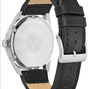 Citizen Accessories - Citizen CTO Silver Dial Leather Strap Men's Watch